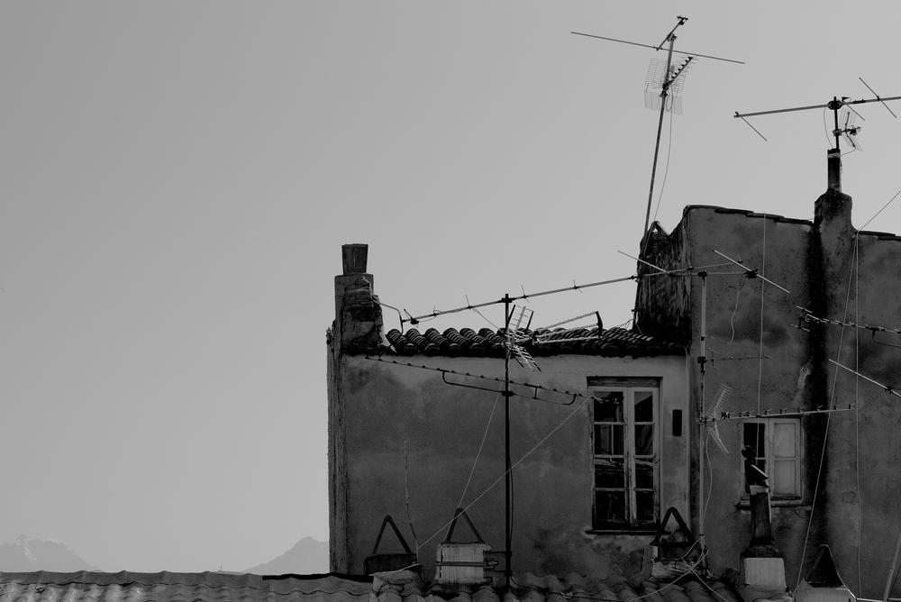 Antennengewirr: Leica M mit Summilux 50 mm @ 4.0