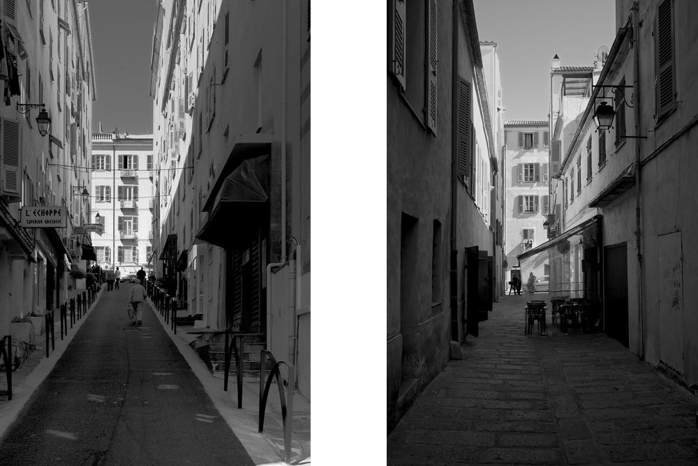 Enge Gassen in Ajaccio: Beide mit Summicron 35 mm @ 6.5
